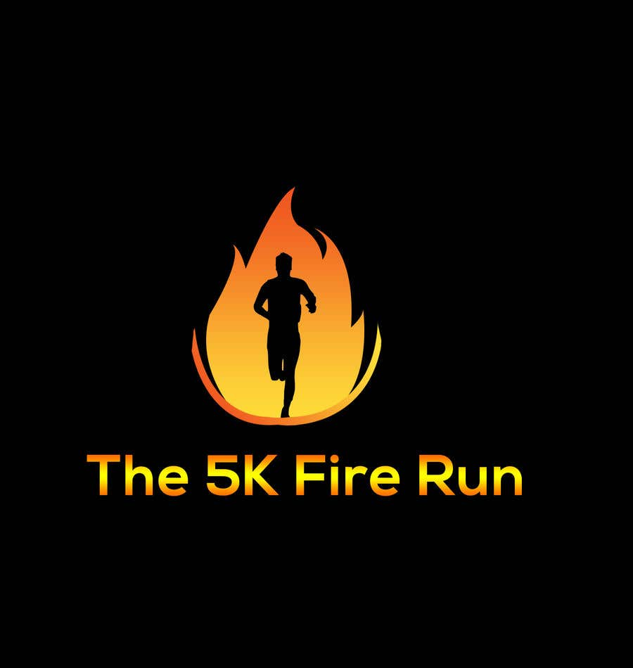 "Inscrição nº 7 do Concurso para Need a fake logo for the ""The 5K Fire Run"" where people race on hot coals and fire in their bare feet"