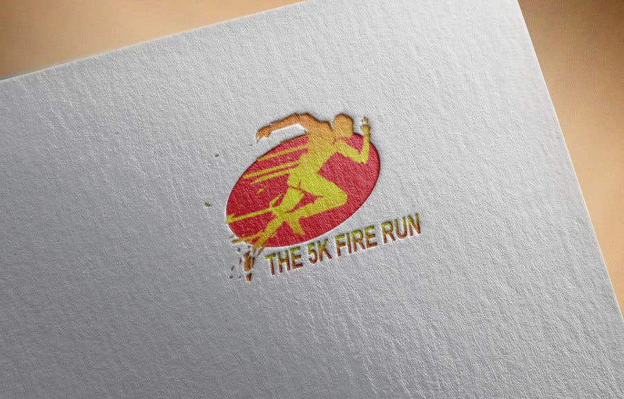 """Inscrição nº 22 do Concurso para Need a fake logo for the """"The 5K Fire Run"""" where people race on hot coals and fire in their bare feet"""