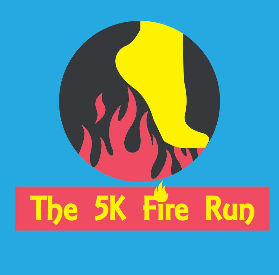 """Inscrição nº 2 do Concurso para Need a fake logo for the """"The 5K Fire Run"""" where people race on hot coals and fire in their bare feet"""