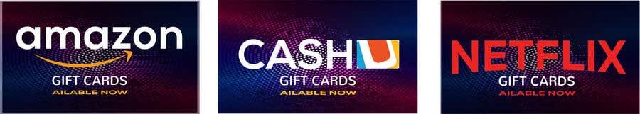 Конкурсная заявка №27 для 3 Banners for my online gift card store