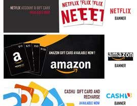 #8 для 3 Banners for my online gift card store от naqiudinmuhd