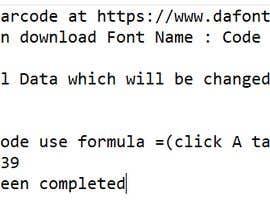 Nro 32 kilpailuun Excel - convert numbers into scanable UPC A & E käyttäjältä ayushafirrr