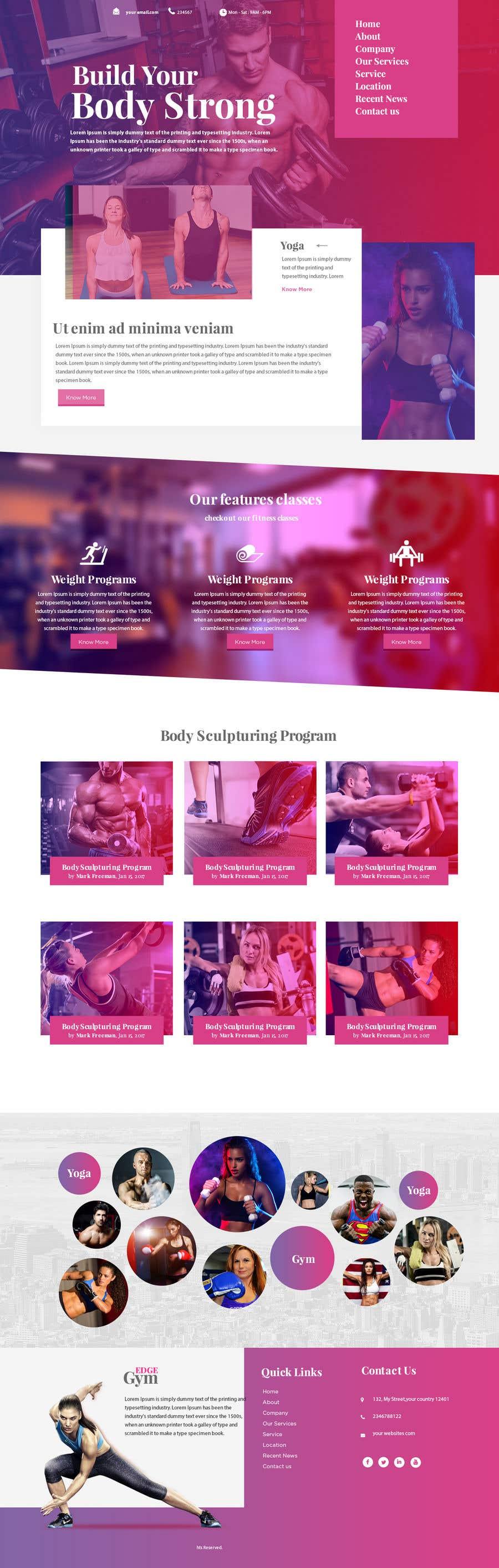Kilpailutyö #95 kilpailussa Redesign home page website