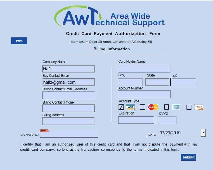 Kilpailutyö #15 kilpailussa Redesign a Credit Card Auth Form