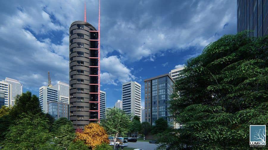 Kilpailutyö #6 kilpailussa Diversity tower (Sketchup work and rendering)