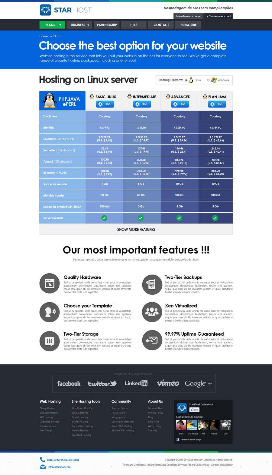 Kilpailutyö #                                        71                                      kilpailussa                                         Website Design for webhosting company