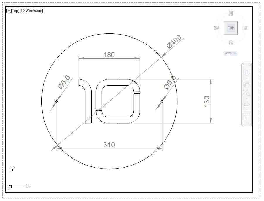 Конкурсная заявка №21 для Design big numbers (CAD) to be made in metal