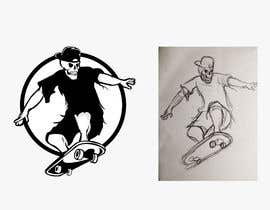 #19 untuk Logo required for skateboarding company. Black and white, smart but alternative. No blending. Feel free to play around with ideas. If you win, chances are I'll use you for further work. oleh fedoratheexplode