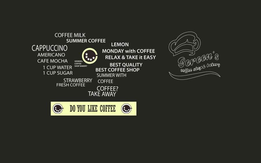 Penyertaan Peraduan #75 untuk wall paper design for my coffee shop and beakry