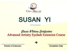 #6 for Classic certificate - eyelash extensions by Blessingendowed1