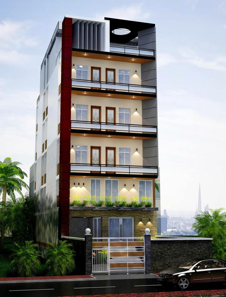 luxury apartments exterior. Contest Entry  19 For Design Exterior Of Luxury Apartment Building Choose Color Material By Archmamun