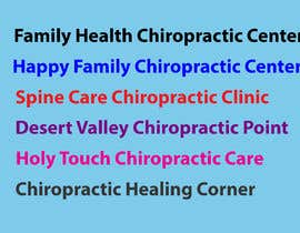 #30 for Name a chiropractic business af symmon96