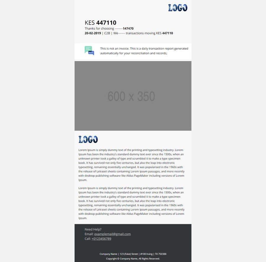 Konkurrenceindlæg #17 for Design HTML email template