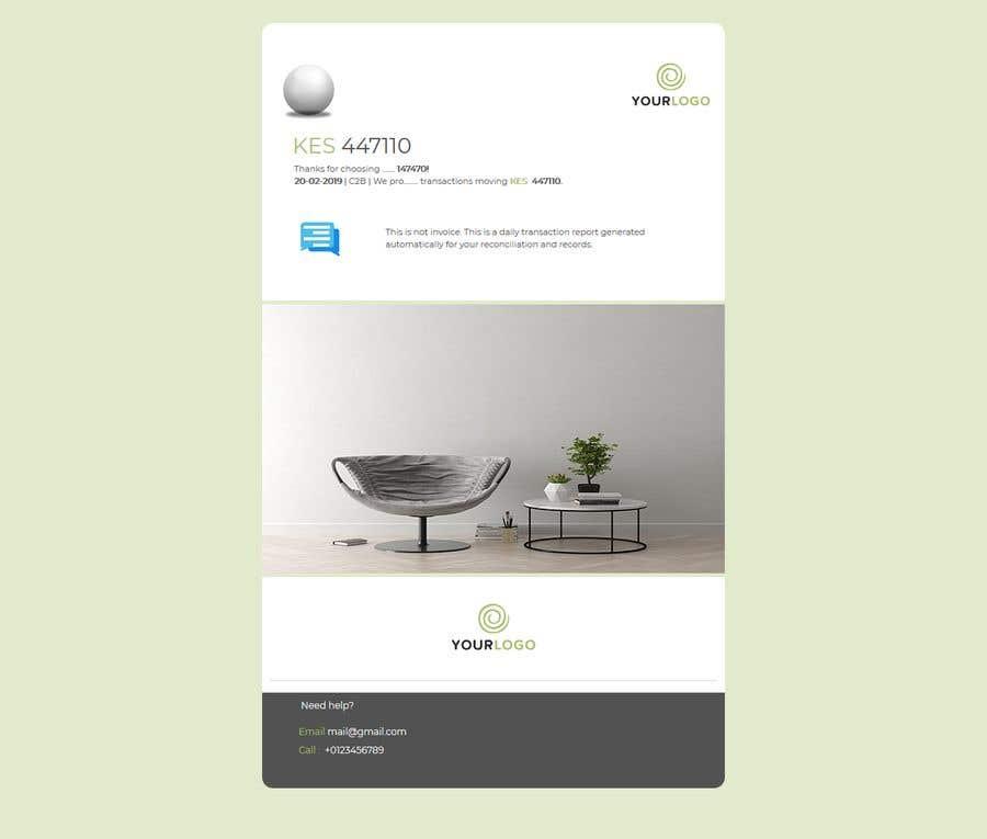 Penyertaan Peraduan #23 untuk Design HTML email template