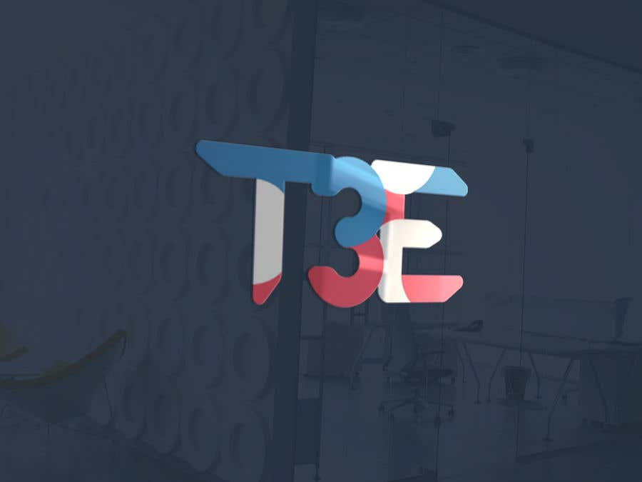 Contest Entry #81 for Logo with word: T3E using the following colors: white, red, light blue