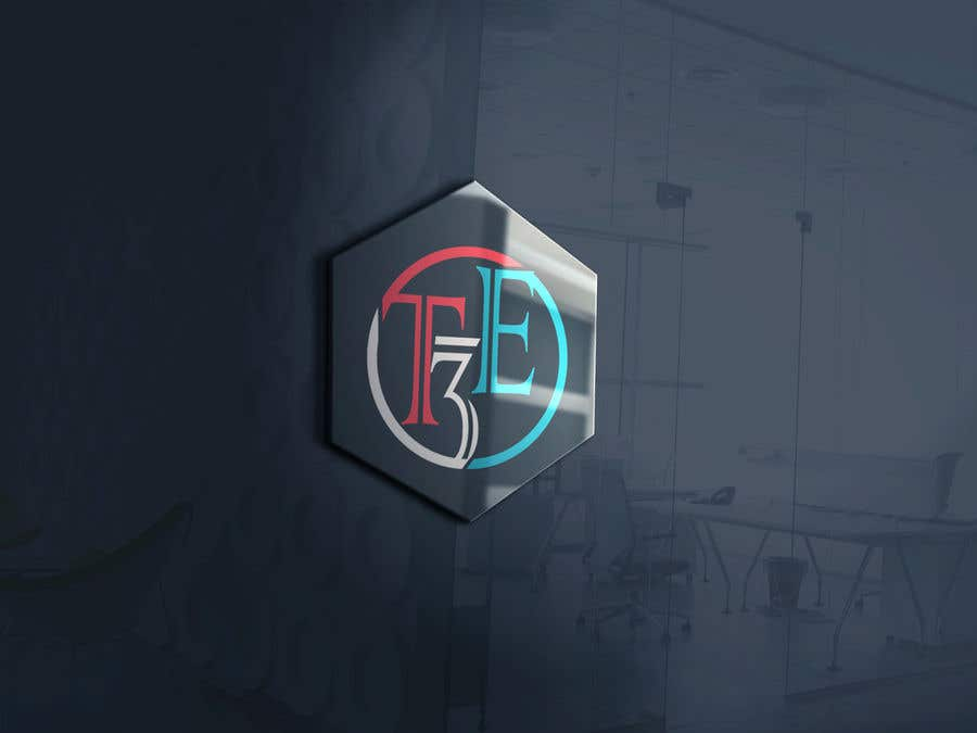 Contest Entry #132 for Logo with word: T3E using the following colors: white, red, light blue