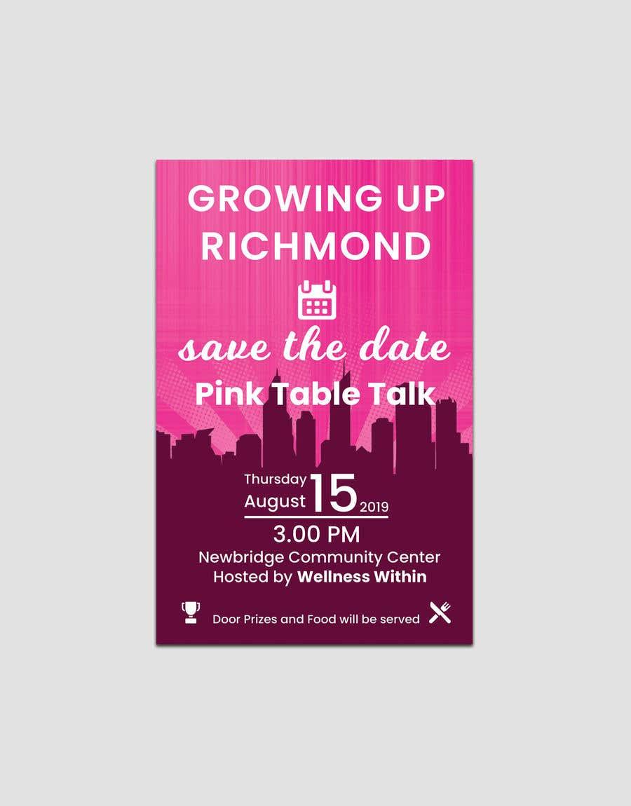 Penyertaan Peraduan #122 untuk Pink Table Talk Flyer