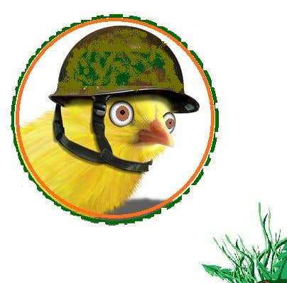 Bài tham dự cuộc thi #29 cho I need a chicken in a circle winking with a military cheeky smile