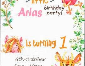 #39 for 1st bday invite by ARIFUZZAMAN12