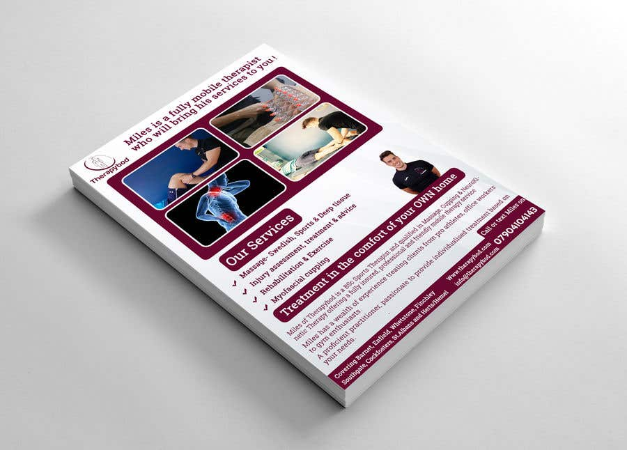Contest Entry #50 for Flyer needed for therapy/massage business. High quality design and print clear.