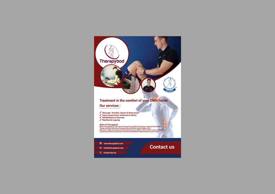 Contest Entry #82 for Flyer needed for therapy/massage business. High quality design and print clear.