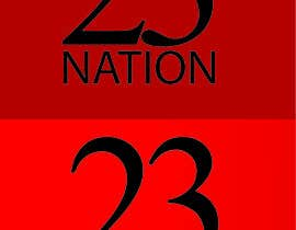 #27 for I need 'nation' in white writing sloped though the number 23 by AQGcreations
