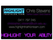 Business Card Design for Highlight Triathlon Team için Graphic Design10 No.lu Yarışma Girdisi