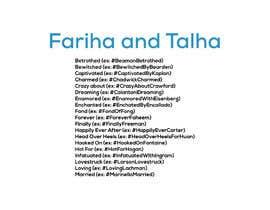 #22 cho Wedding Hashtag bởi Ashraful180