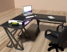 #34 for Carbon fiber office desk design - Aluminium legs by lotfeyassor11