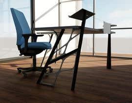 #50 for Carbon fiber office desk design - Aluminium legs by FadiNafe