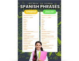 Nro 28 kilpailuun Design 1 page digital poster - Top Spanish Phrases for kids käyttäjältä ephdesign13