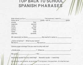 Nro 12 kilpailuun Design 1 page digital poster - Top Spanish Phrases for kids käyttäjältä Anam827642
