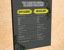 Nro 13 kilpailuun Design 1 page digital poster - Top Spanish Phrases for kids käyttäjältä Anam827642