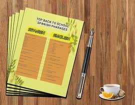 Nro 29 kilpailuun Design 1 page digital poster - Top Spanish Phrases for kids käyttäjältä Anam827642