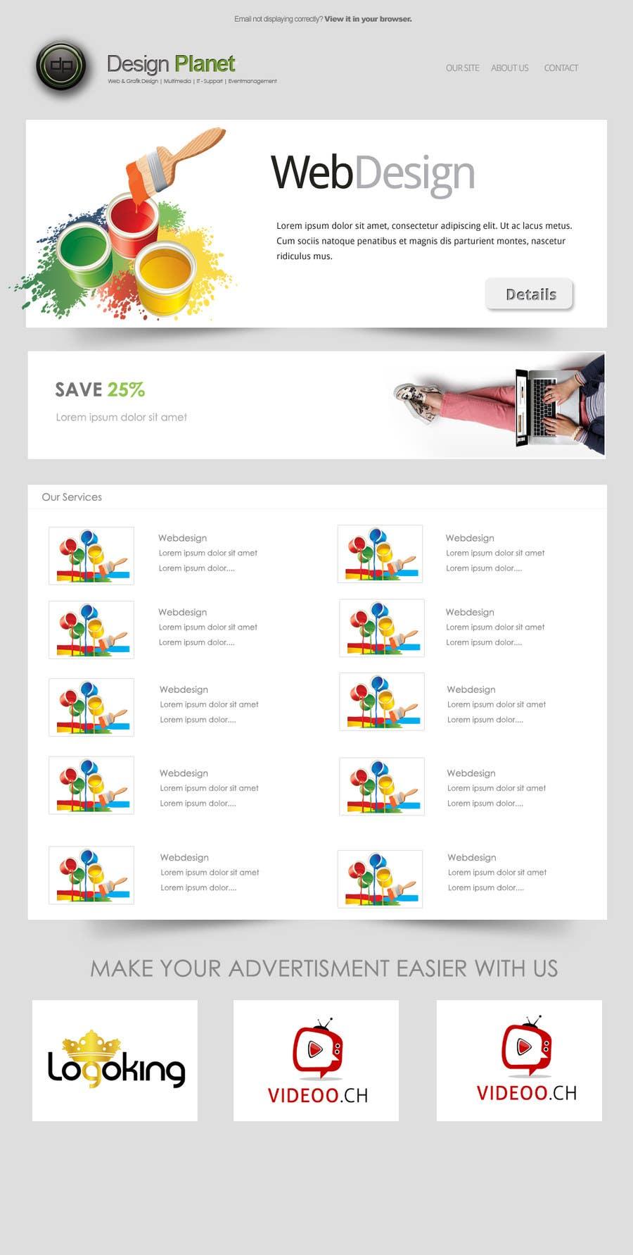 Kilpailutyö #7 kilpailussa Newsletter Design for IT company