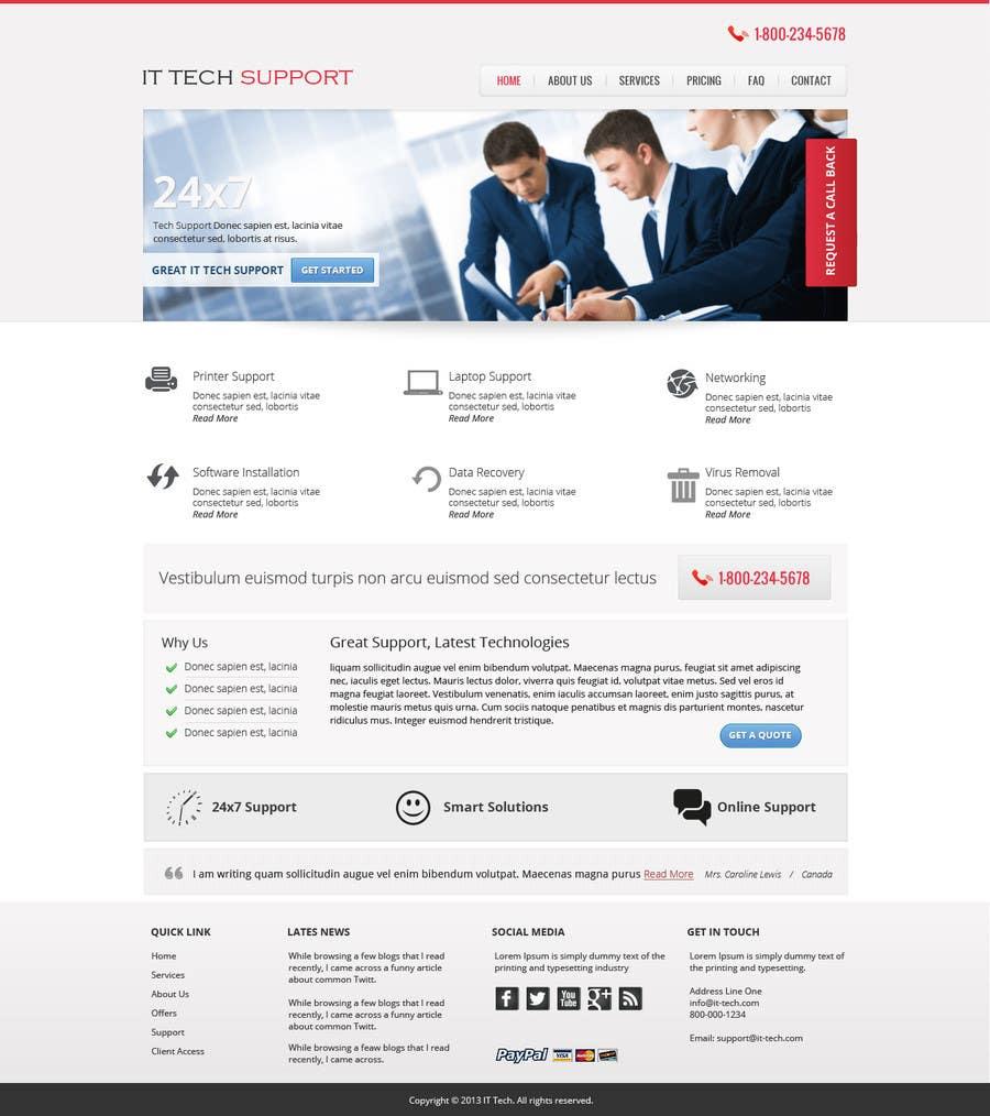 Inscrição nº 7 do Concurso para Wordpress Theme Design for IT Tech Support Help $650 to $1000