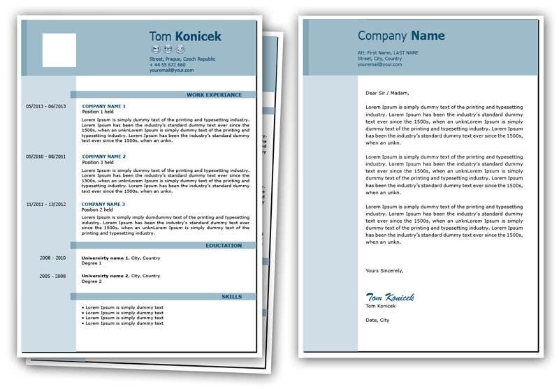 Penyertaan Peraduan #6 untuk Graphic Design for CV and cover letter