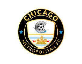 #15 для I need a logo with the wording Chicago Metropolitan FC Since 2020 that mix the two logos on file and keep the c with ball. Main colors should be Royal blue, Yellow and Dark gray. от oumomenmr