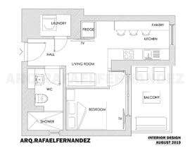#30 untuk Please take a look on attached floor plan. We are looking for a way to move from 1 to 2 room flat oleh arqfernandezr