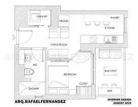 #57 untuk Please take a look on attached floor plan. We are looking for a way to move from 1 to 2 room flat oleh arqfernandezr