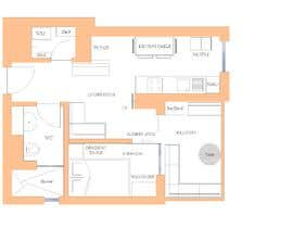 #97 untuk Please take a look on attached floor plan. We are looking for a way to move from 1 to 2 room flat oleh dietho