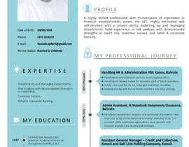 #19 for Need to convert the attach word document CV for Mr. Alqaheri to an informative Info-graphic CV. See also attached PDF example of personal profile that I like. by irfananis07