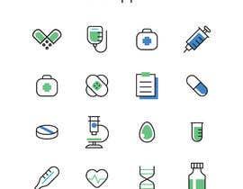 #87 para Logo and App Icon for MedTech project por elvin000001