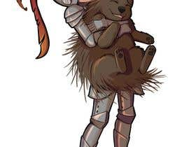 #105 cho Creative art of someone wearing battle armor hugging a porcupine. Artwork Illustration bởi Belidas
