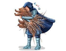 #117 cho Creative art of someone wearing battle armor hugging a porcupine. Artwork Illustration bởi Zaitoon2