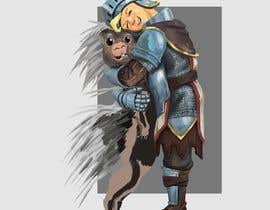 #113 cho Creative art of someone wearing battle armor hugging a porcupine. Artwork Illustration bởi Teeth33