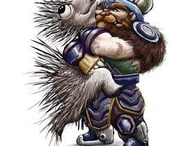 #95 cho Creative art of someone wearing battle armor hugging a porcupine. Artwork Illustration bởi lugepuar
