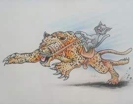 #128 cho Creative Art: A Cat Riding a Big Wild Cat Like a Horse (with Saddle) bởi indraDhe