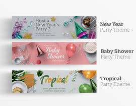 #35 for Home Page Banner Designs for Party Supplies Web Site by irataliki