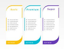 #5 for Design pricing table by MalakMedhat96